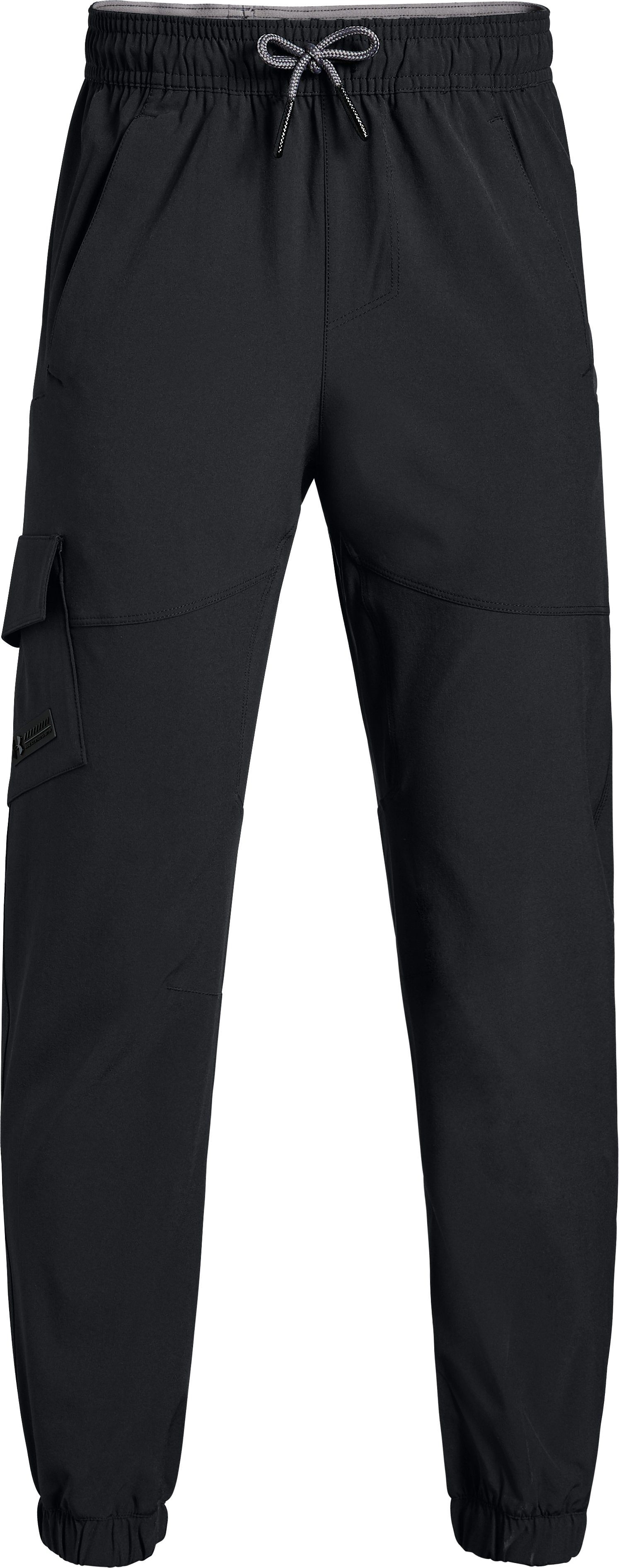 black cargo pants Boys' UA X Level Cargo Pants These are a superior material....My little guy loved these....They run a little tight for Huskey, but great overall.