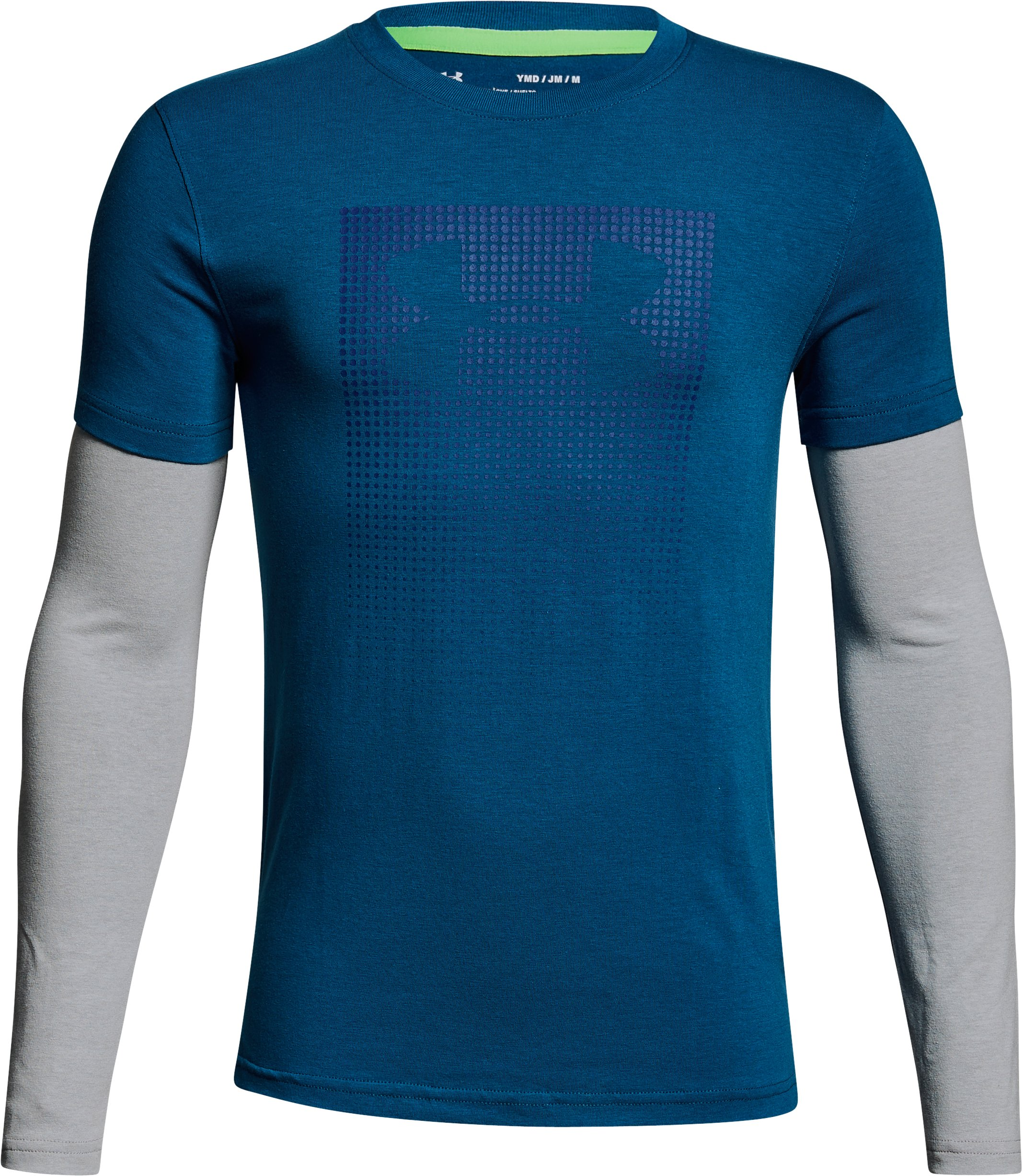 Boys' UA Knit 2-in-1 Long Sleeve, MOROCCAN BLUE, undefined