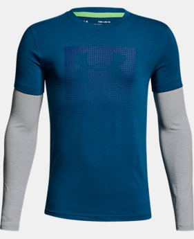 Boys' UA Knit 2-in-1 Long Sleeve  2 Colors $35