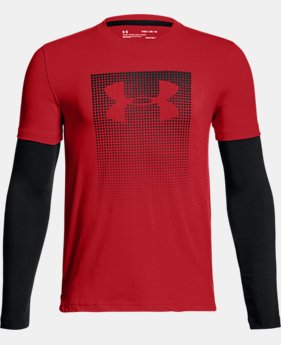 New Arrival Boys' UA Knit 2-in-1 Long Sleeve  1 Color $35