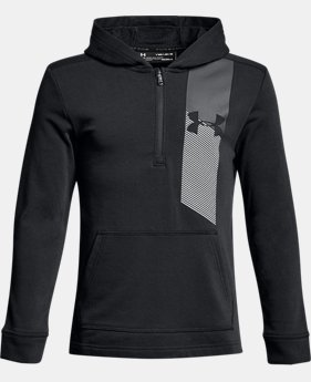 Boys' UA Microthread Terry ¼ Zip Hoodie  5  Colors $45