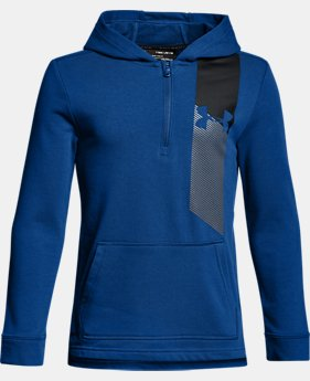 Boys' UA Microthread Terry ¼ Zip Hoodie  1 Color $45