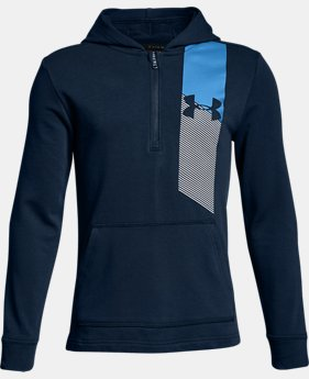 Boys' UA Microthread Terry ¼ Zip Hoodie  1  Color Available $55