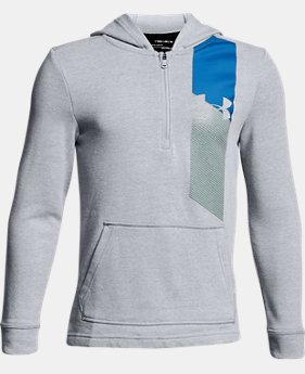 Boys' UA Microthread Terry ¼ Zip Hoodie  2  Colors Available $45