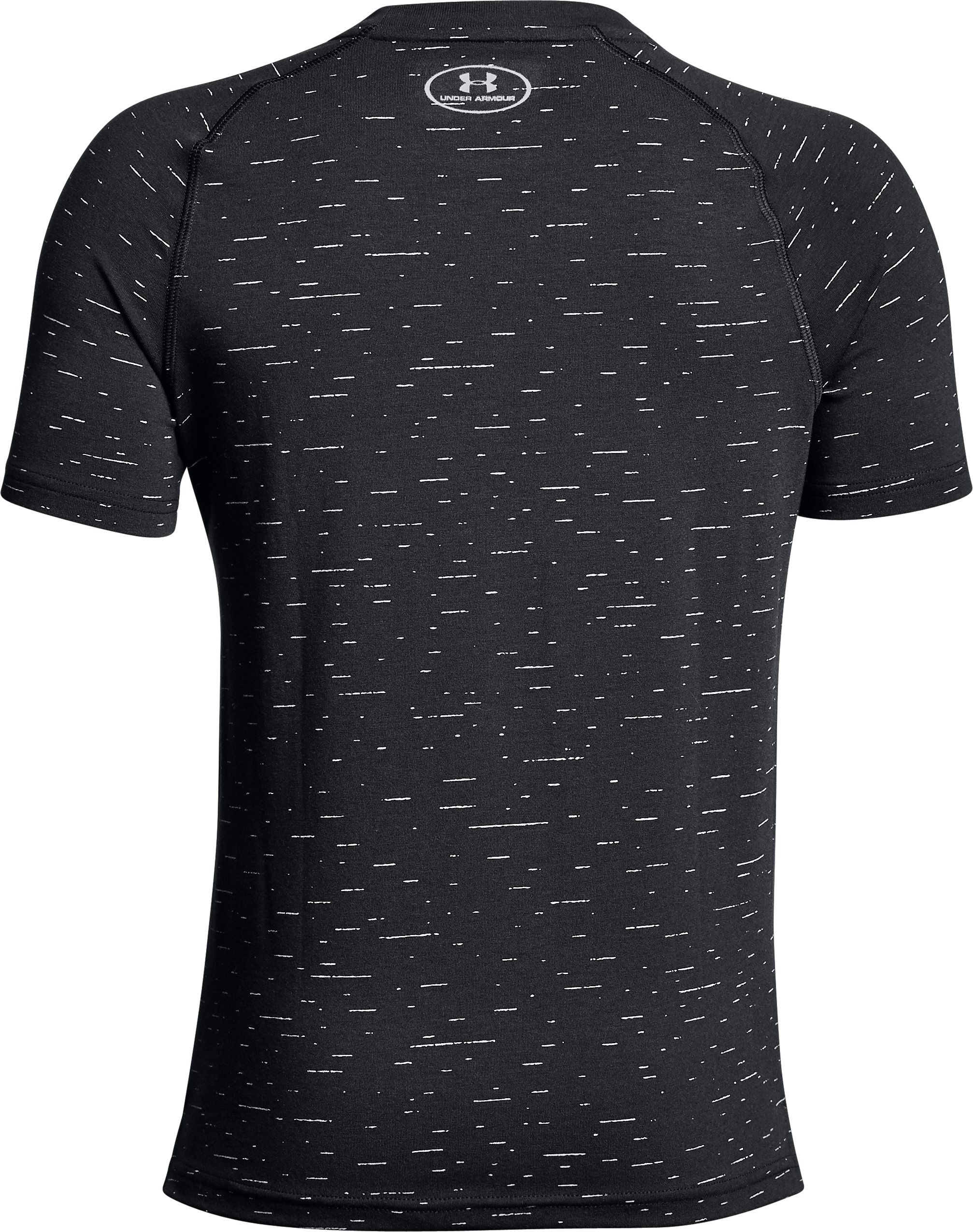 Boys' UA Knit Short Sleeve, Black ,