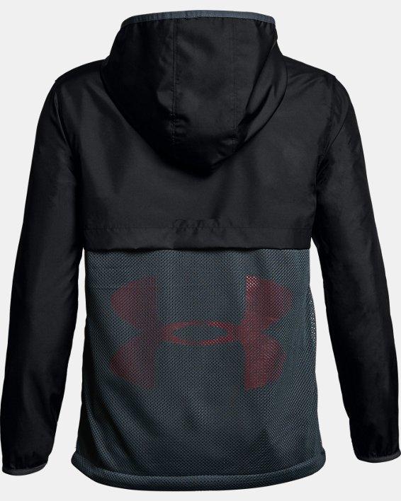 Boys' UA Sackpack Jacket, Black, pdpMainDesktop image number 1