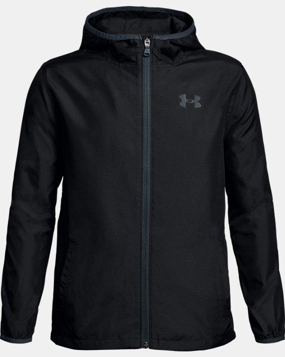 Boys' UA Sackpack Jacket, Black, pdpMainDesktop image number 0