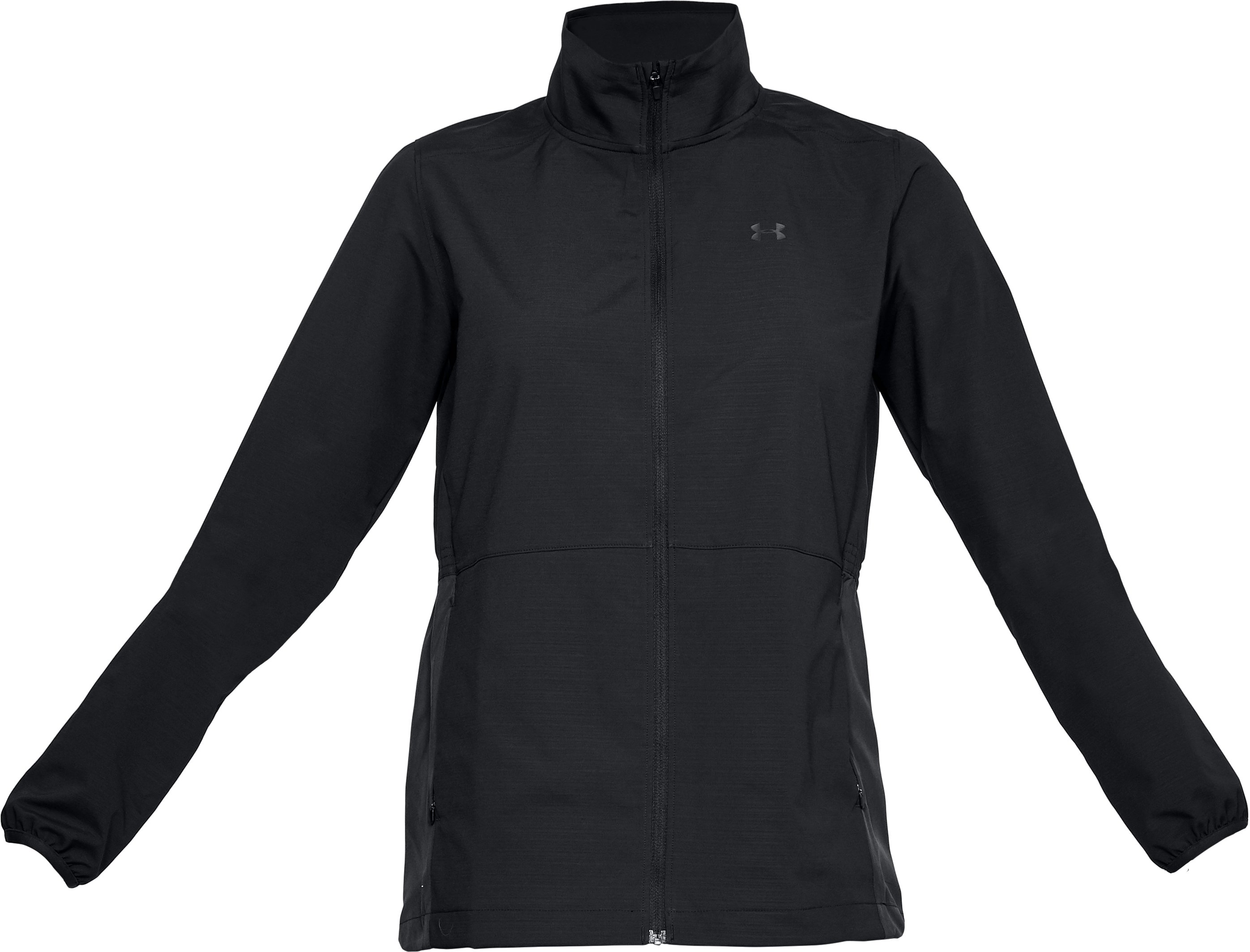 Women's UA Windstrike Full Zip Jacket, Black ,