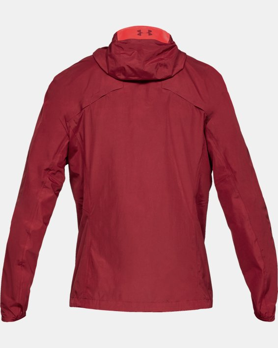 Men's UA Scrambler Jacket, Red, pdpMainDesktop image number 4