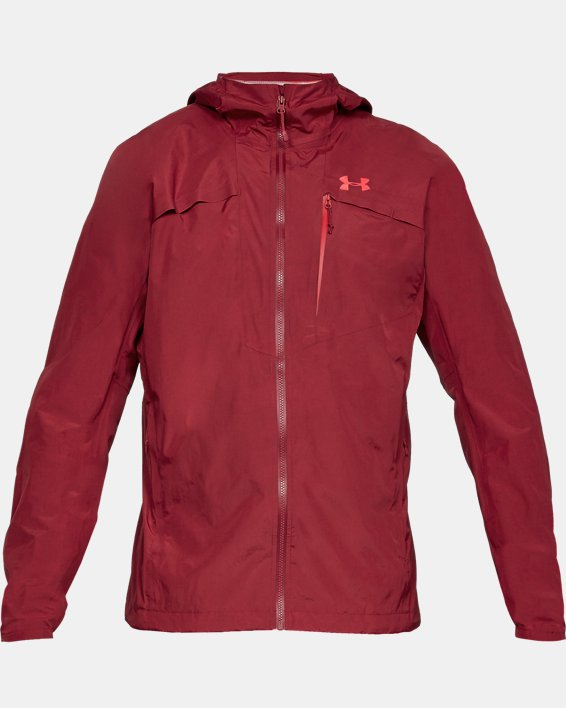 Men's UA Scrambler Jacket, Red, pdpMainDesktop image number 3