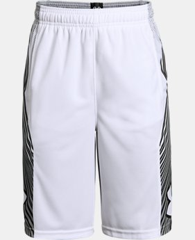 Boys' UA Space the Floor Shorts LIMITED TIME: FREE U.S. SHIPPING 1  Color Available $30