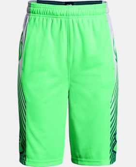 Boys' UA Space the Floor Shorts FREE U.S. SHIPPING 7  Colors Available $30