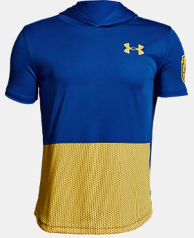 Boys' UA Baseline Short Sleeve Hoodie  1  Color Available $21 to $26.25