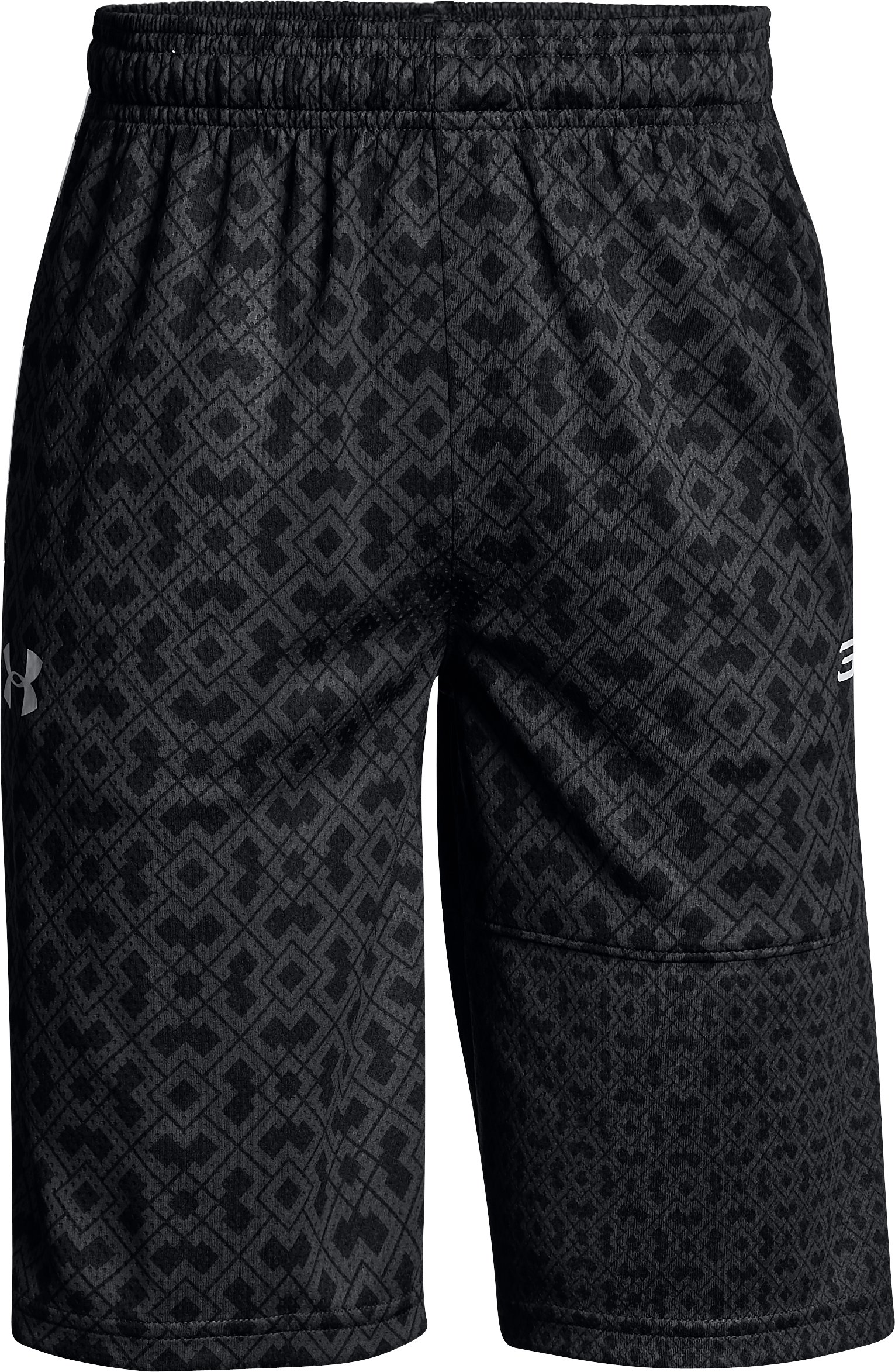 Boys' SC30 Printed Shorts, Black , zoomed