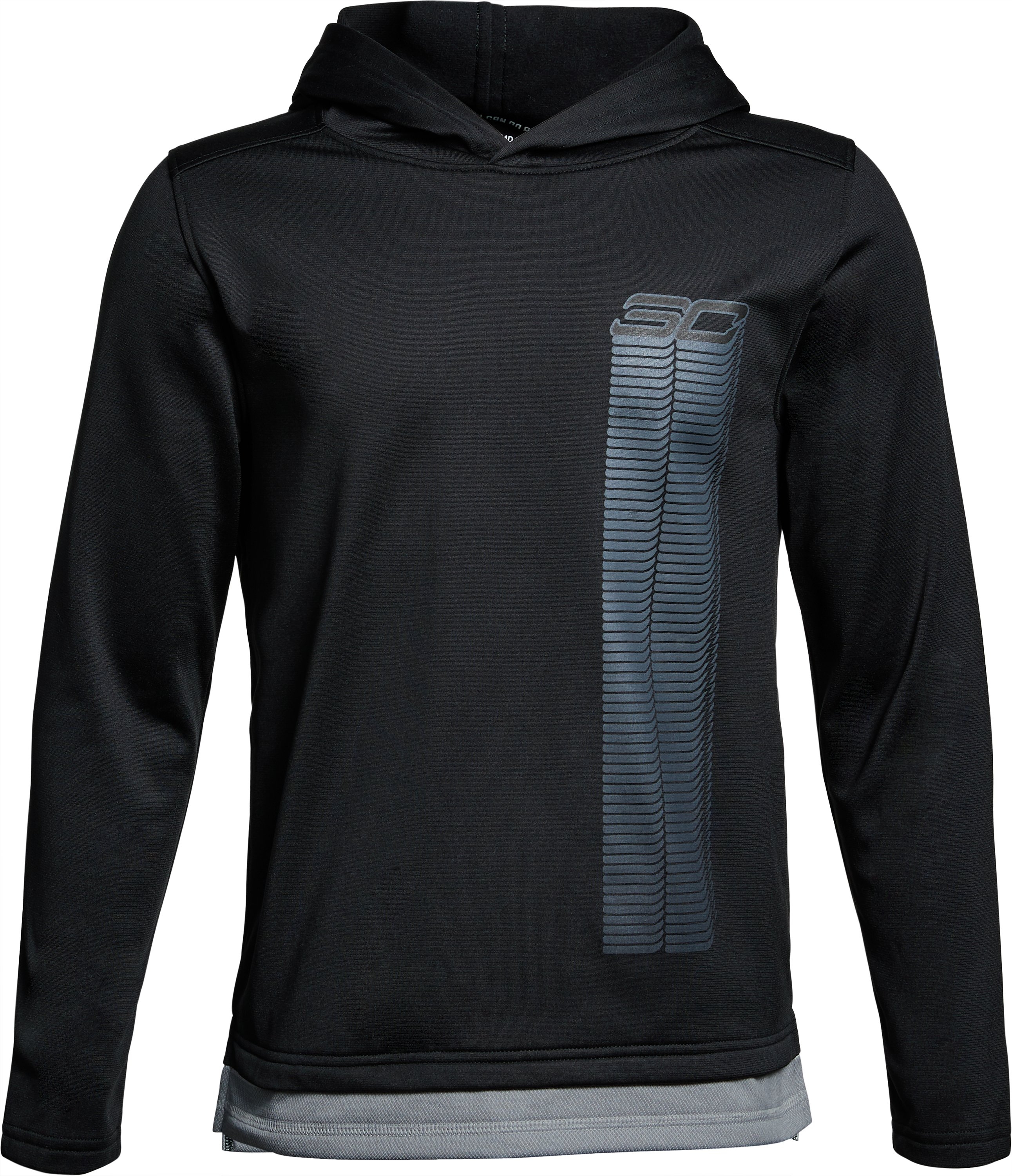 Boys' SC30 Waves Hoodie, Black ,