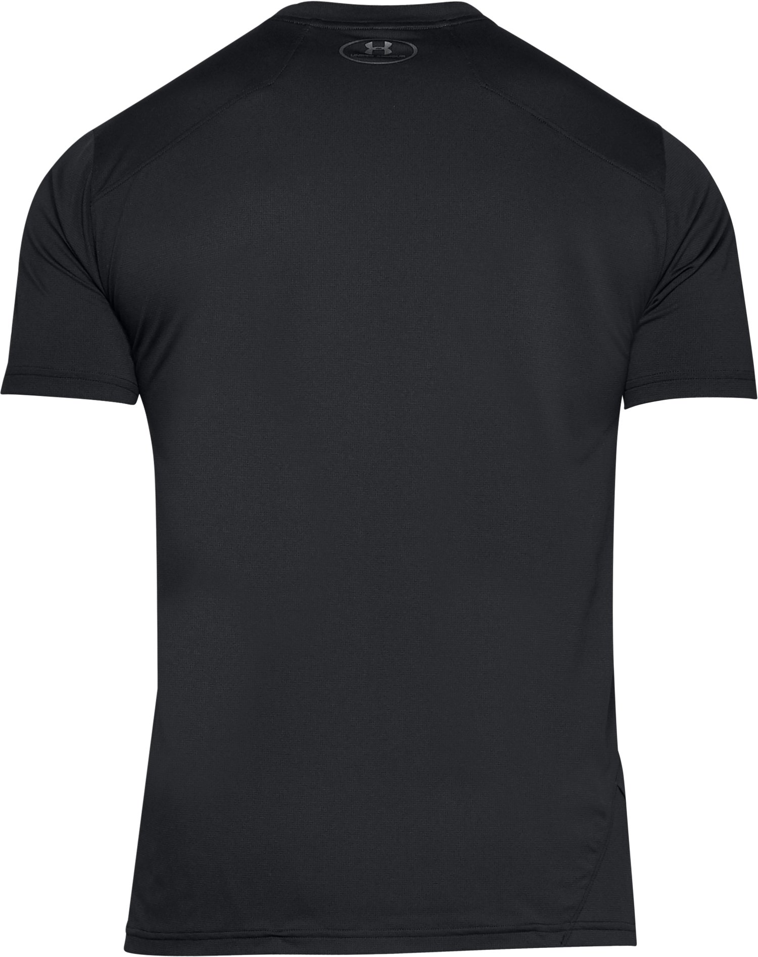 Men's UA Sunblock Short Sleeve, Black ,