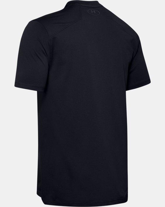 Men's UA Sunblock Short Sleeve, Black, pdpMainDesktop image number 5