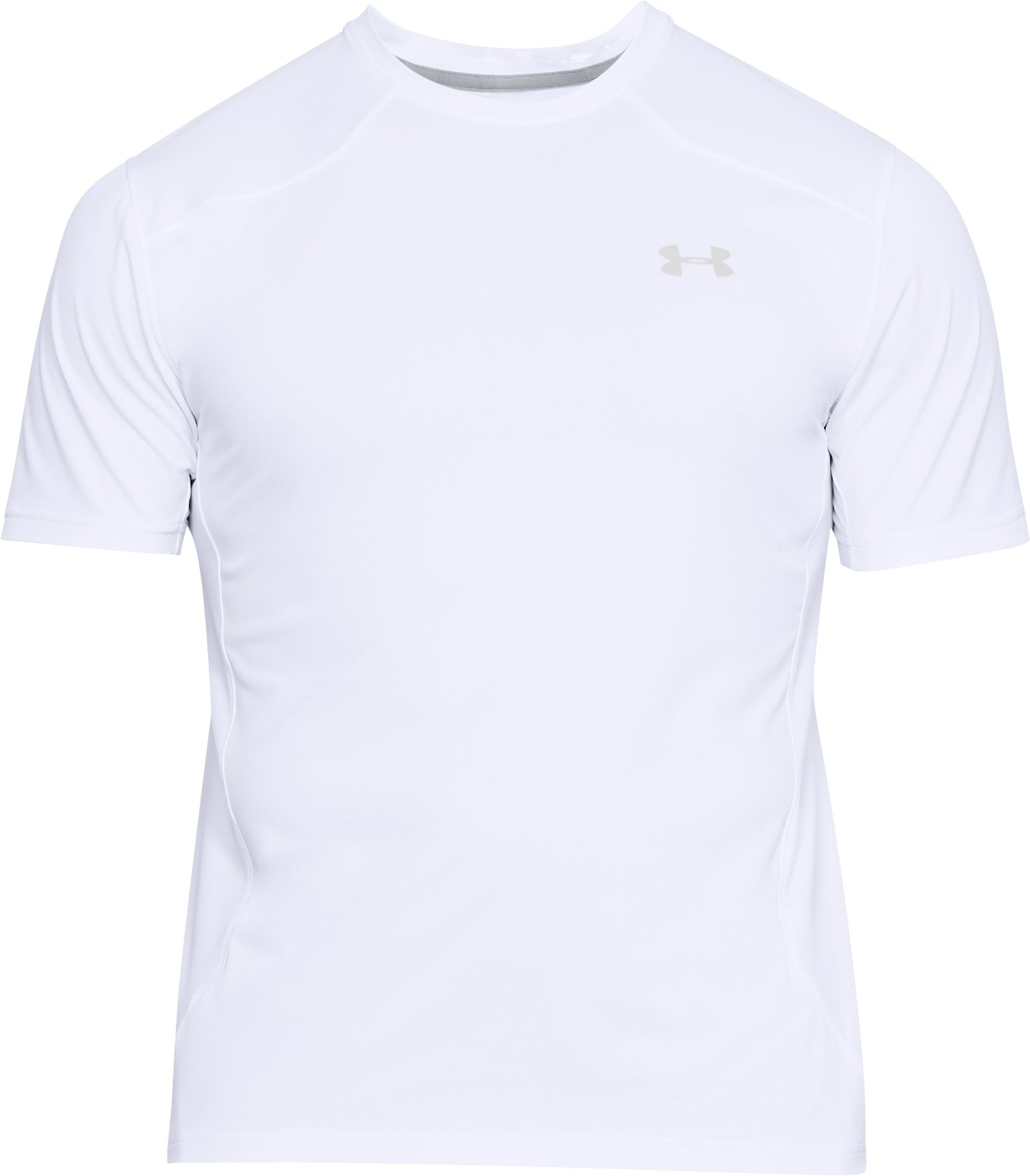 Men's UA Sunblock Short Sleeve, White,