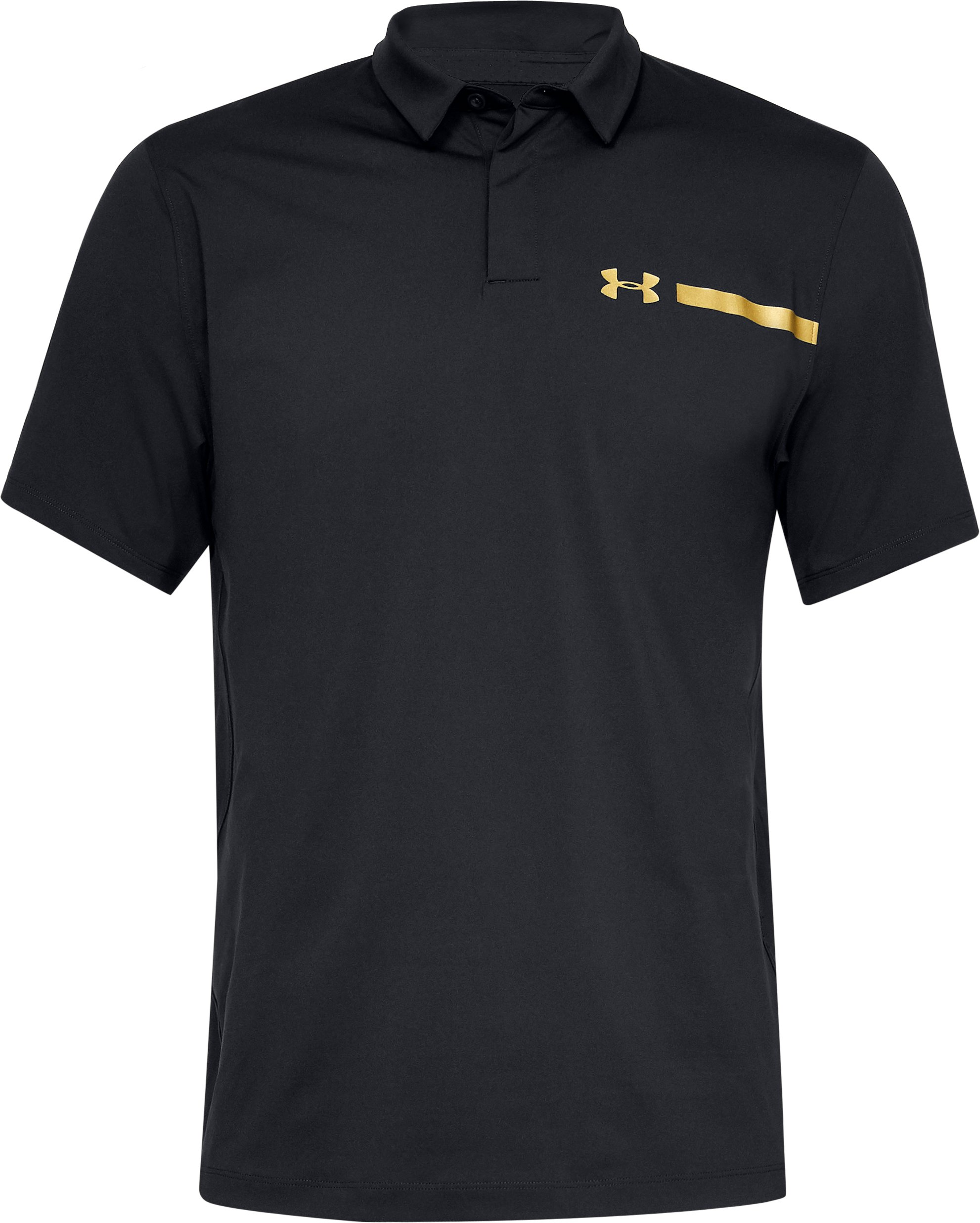 Men's UA Perpetual Woven Polo, Black , undefined