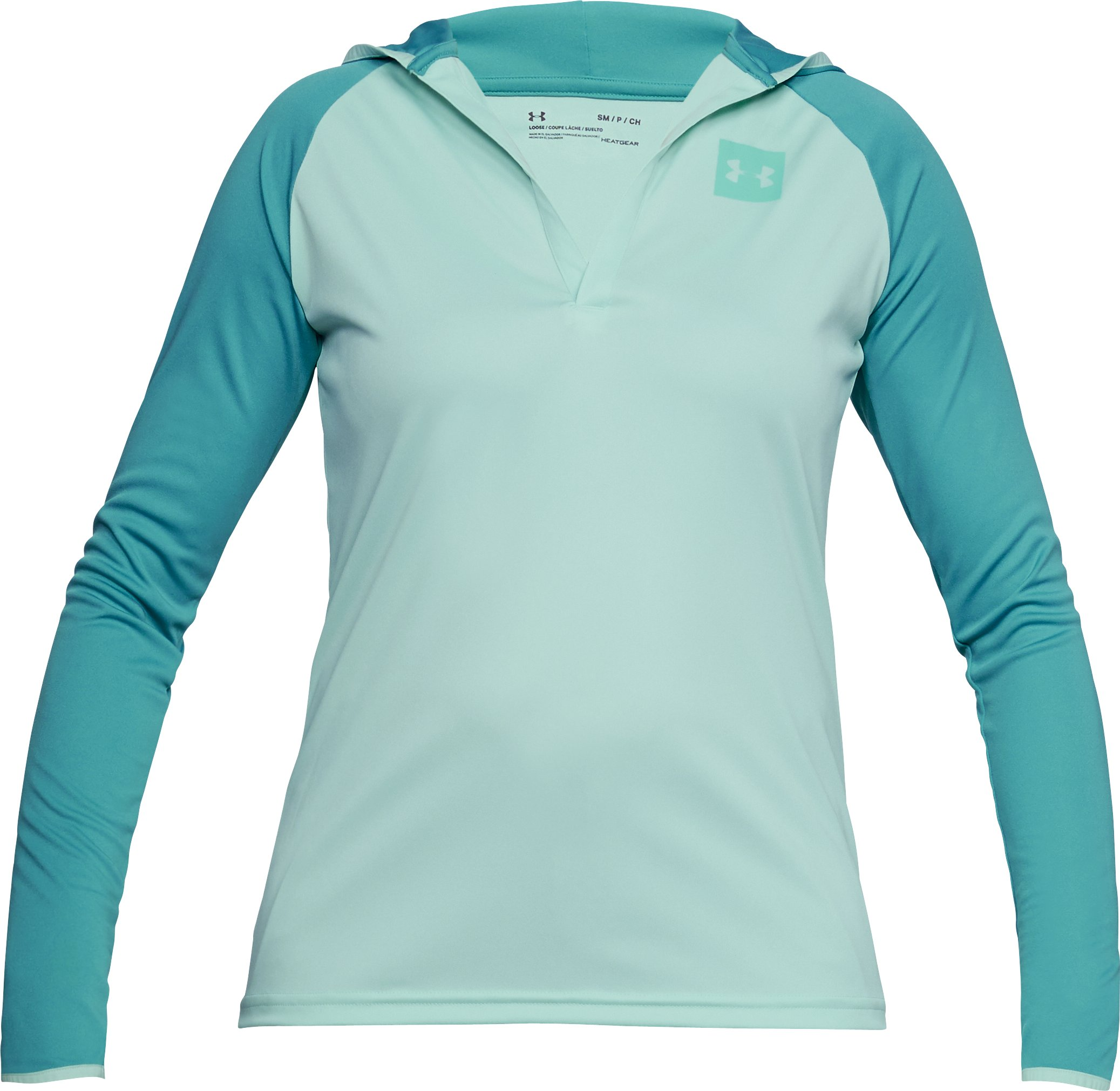 Women's UA Fish Hunter Tech Popover, REFRESH MINT,