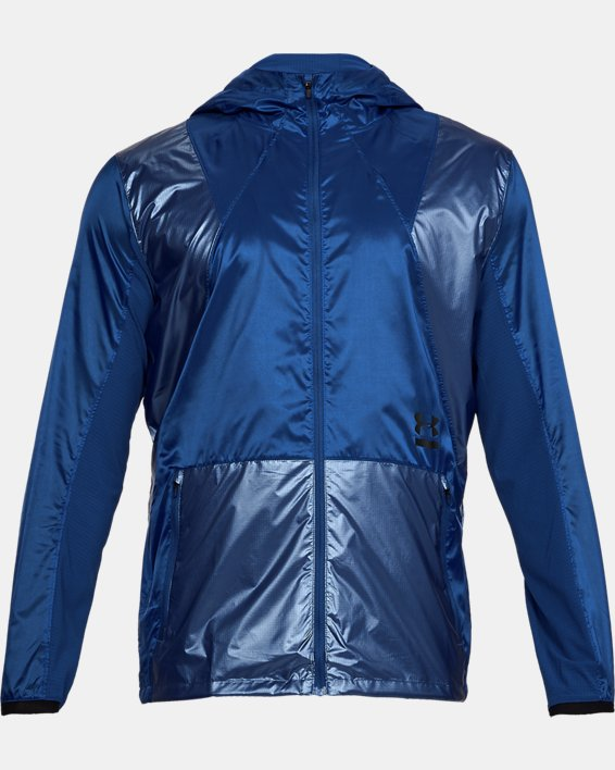 Men's UA Perpetual Full Zip Jacket, Blue, pdpMainDesktop image number 4