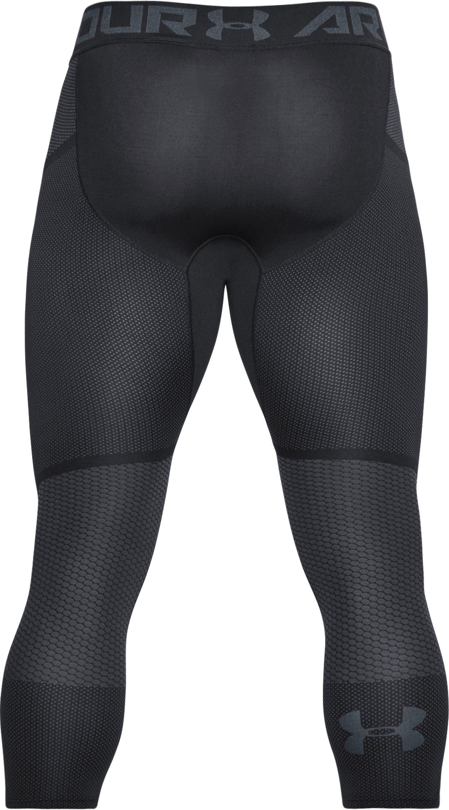 Men's UA Seamless ¾ Leggings, Black , undefined