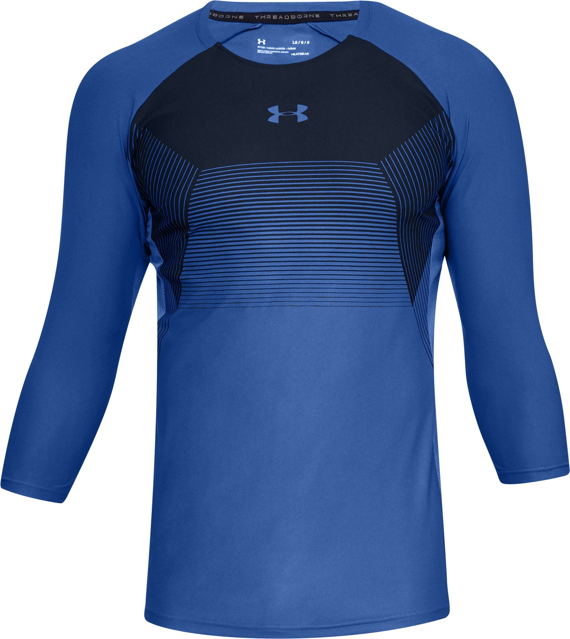 Men's UA Vanish ¾ Sleeve, JUPITER BLUE,