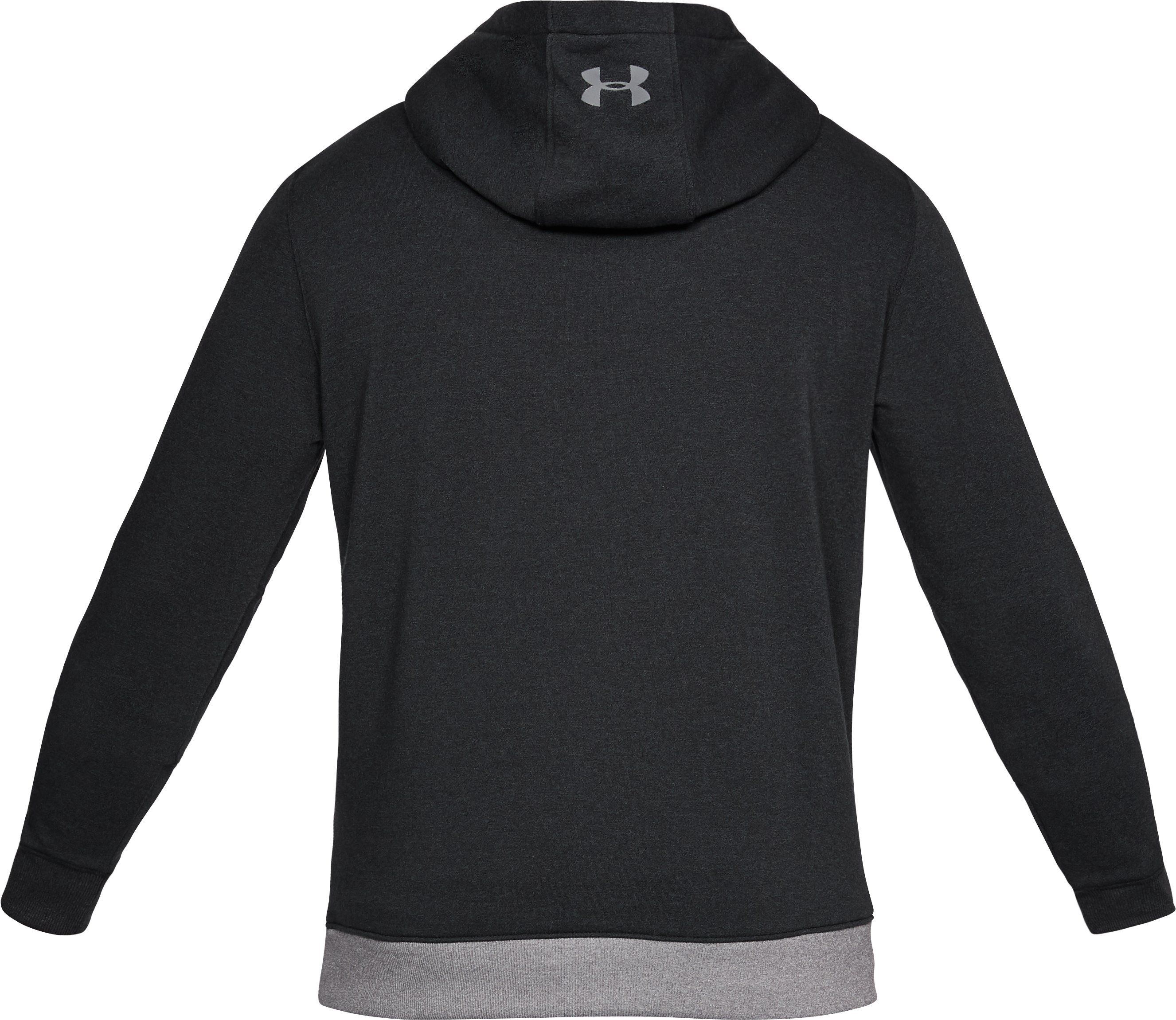 Men's UA Microthread Fleece Hoodie, Black ,