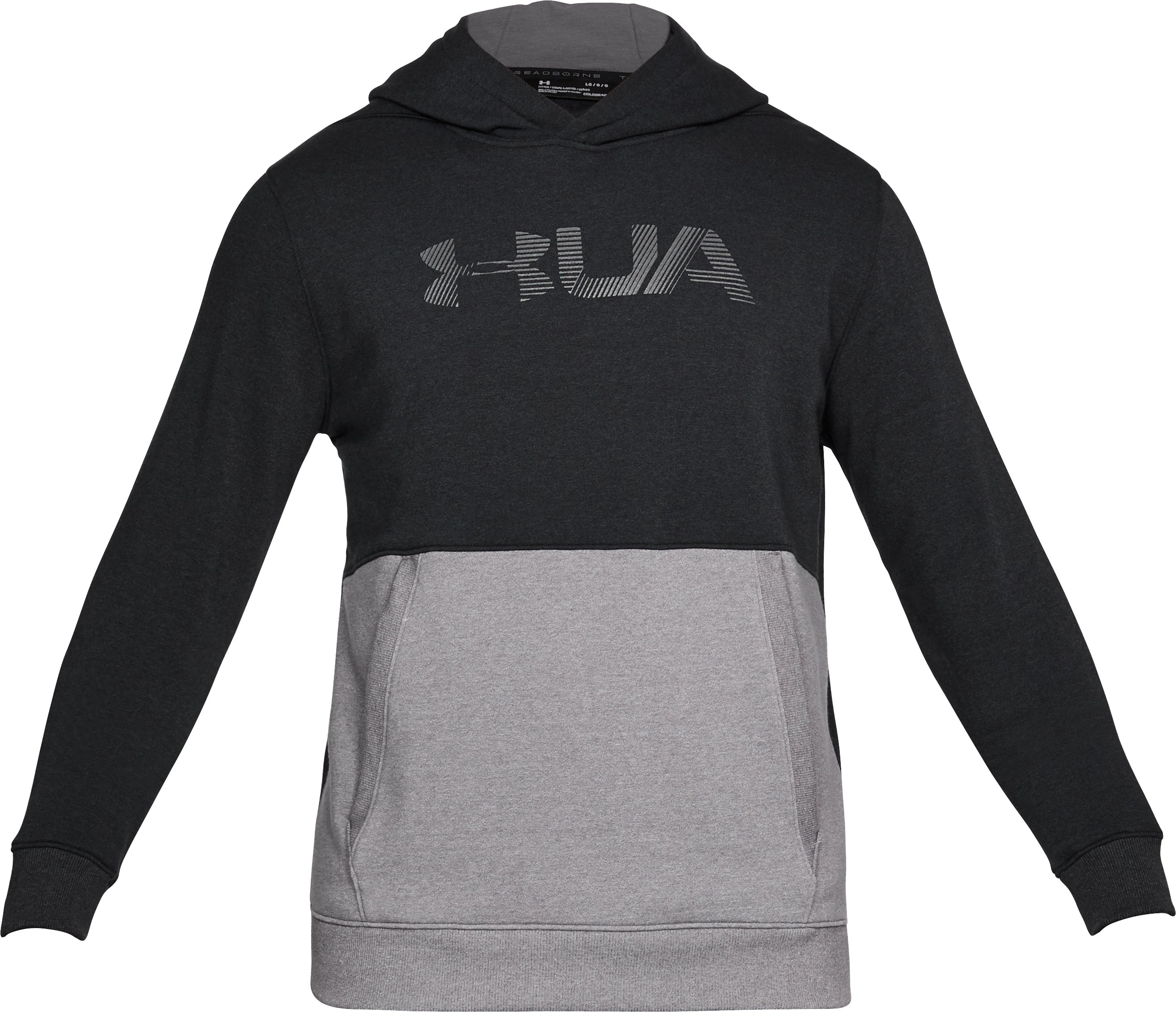 Men's UA Threadborne Fleece Hoodie, Black , undefined