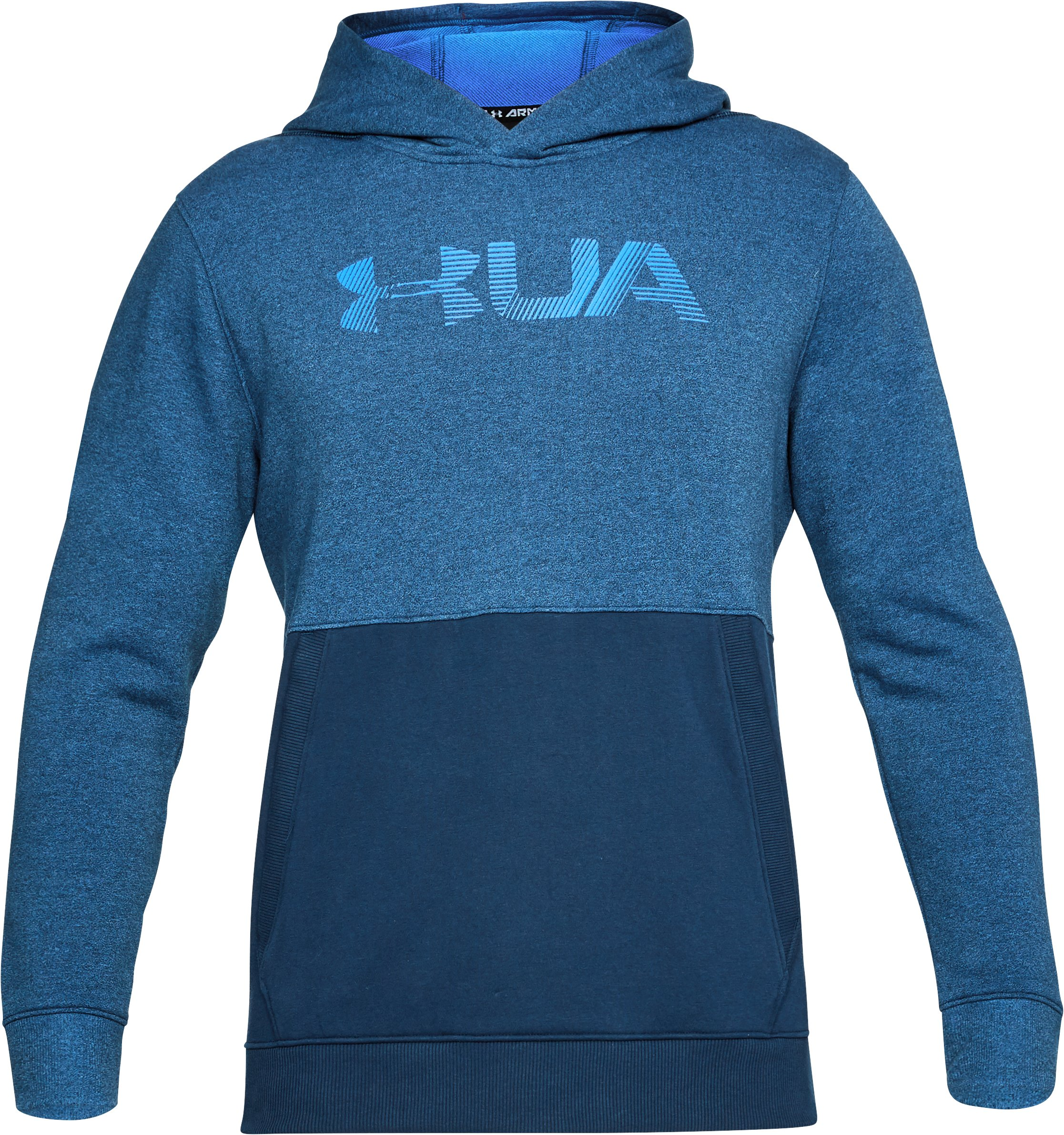 Men's UA Microthread Fleece Hoodie, Mediterranean,