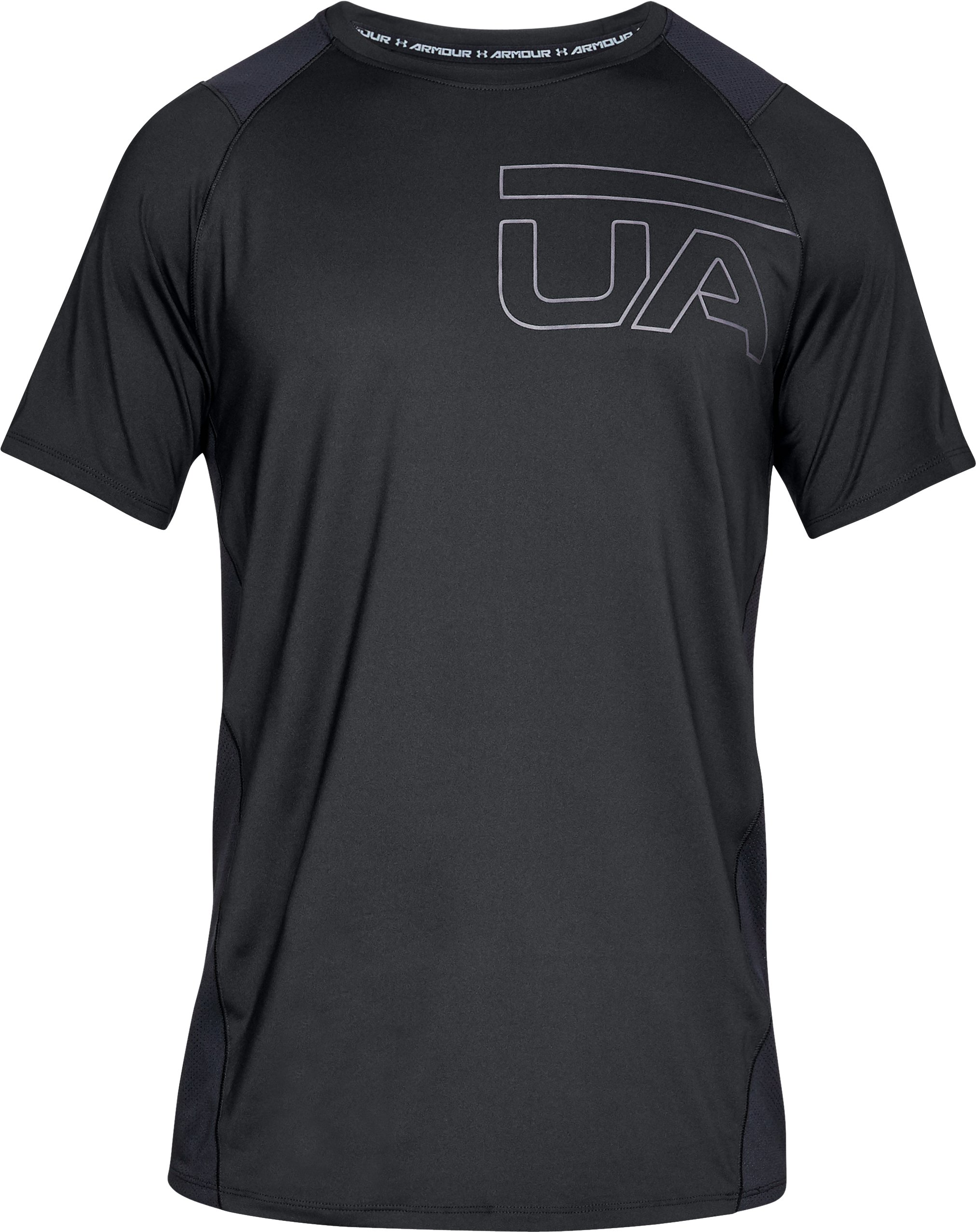 Men's UA MK-1 Graphic Short Sleeve, Black , undefined