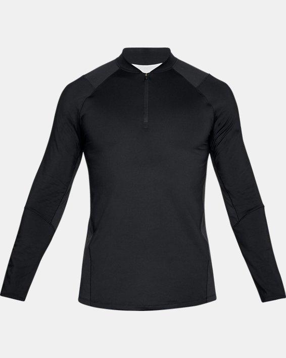 Men's UA MK-1 ¼ Zip, Black, pdpMainDesktop image number 3