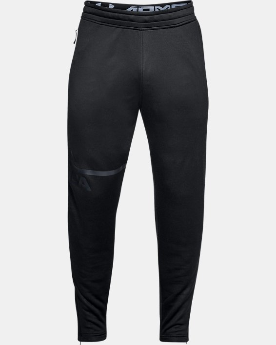 Men's UA MK-1 Terry Tapered Pants, Black, pdpMainDesktop image number 3
