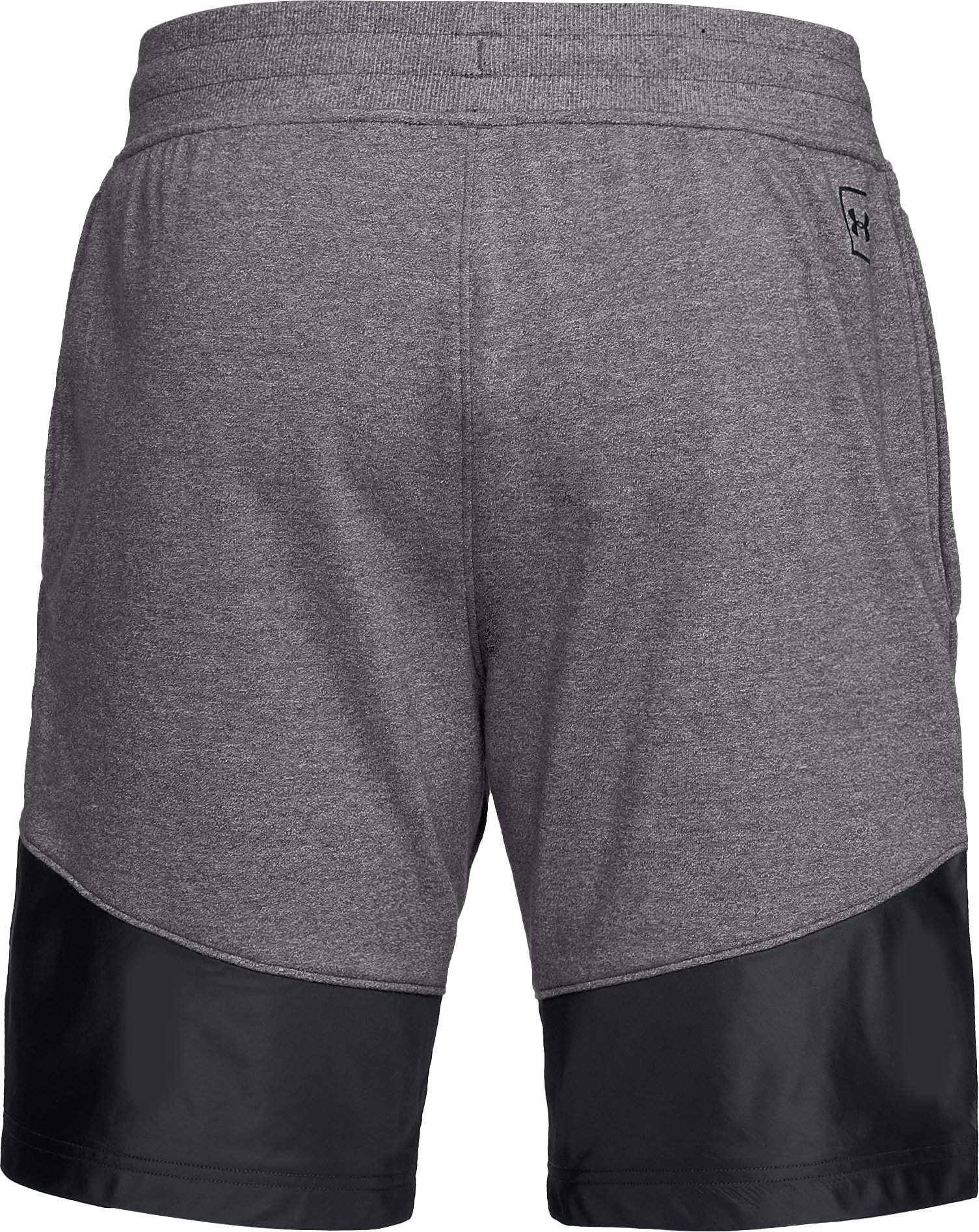 Men's UA Microthread Terry Shorts, CHARCOAL MEDIUM HEATHER,