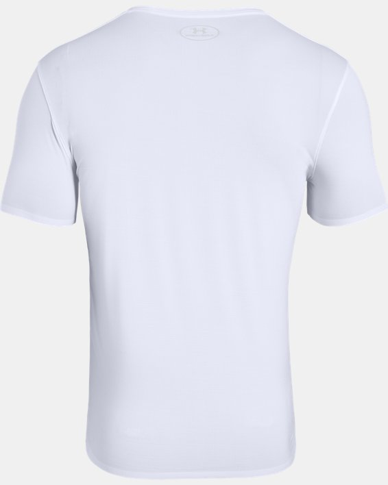 Men's ArmourVent® Short Sleeve Crew, White, pdpMainDesktop image number 5