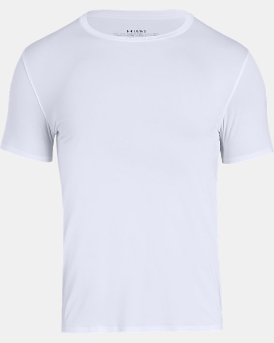 Men's ArmourVent® Short Sleeve Crew, White, pdpMainDesktop image number 4