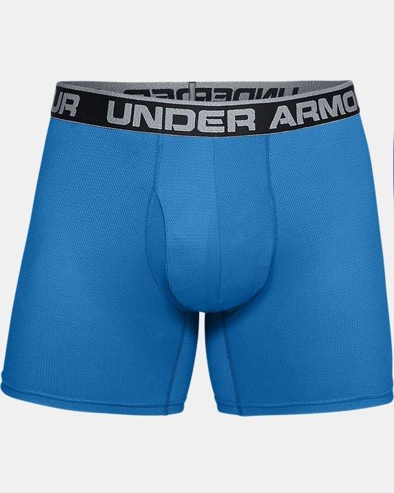 "Men's UA Tech™ Mesh 6"" Boxerjock® - 2-Pack, Blue, pdpMainDesktop image number 2"