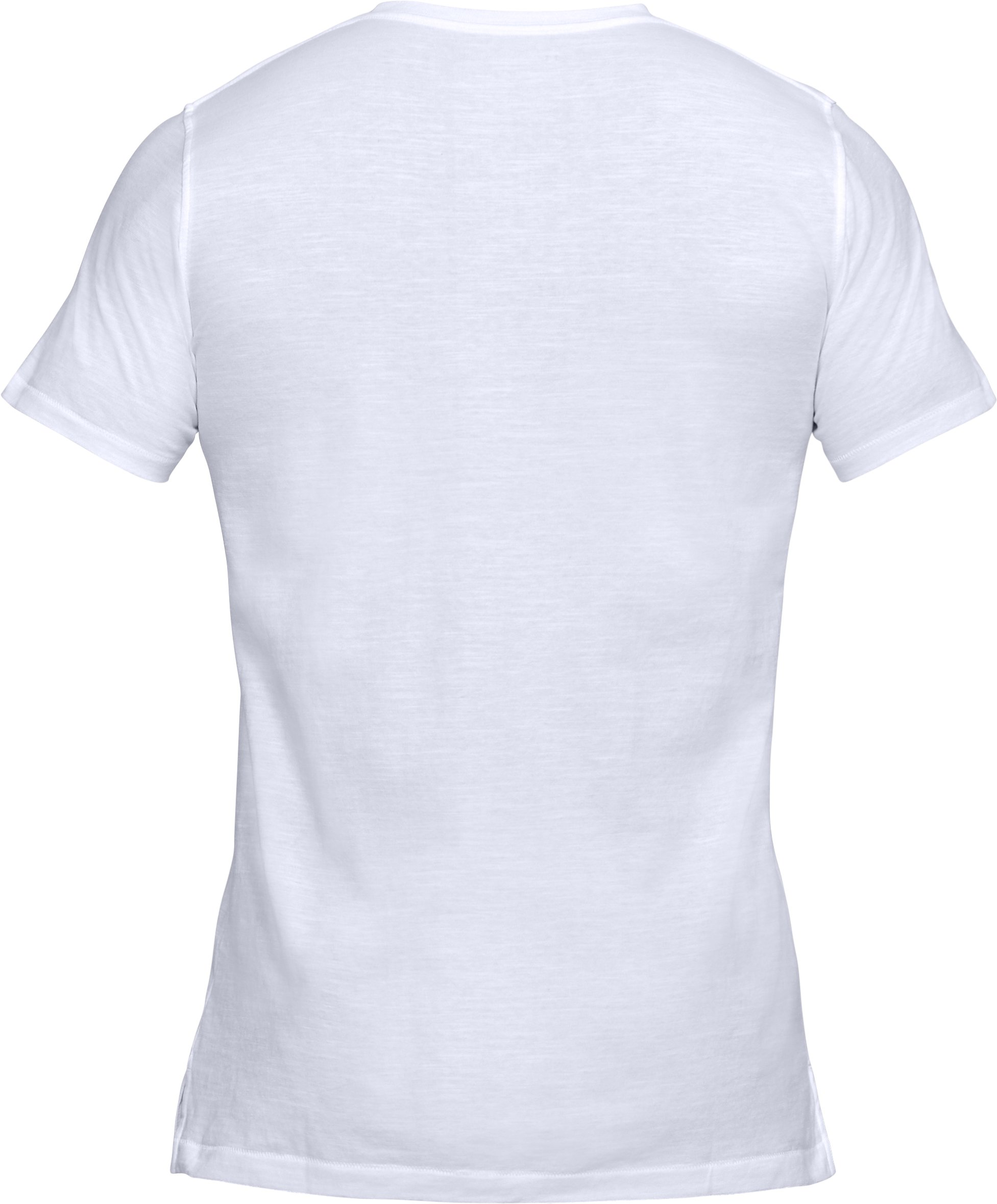 Men's UA Sportstyle Core V-Neck, White,