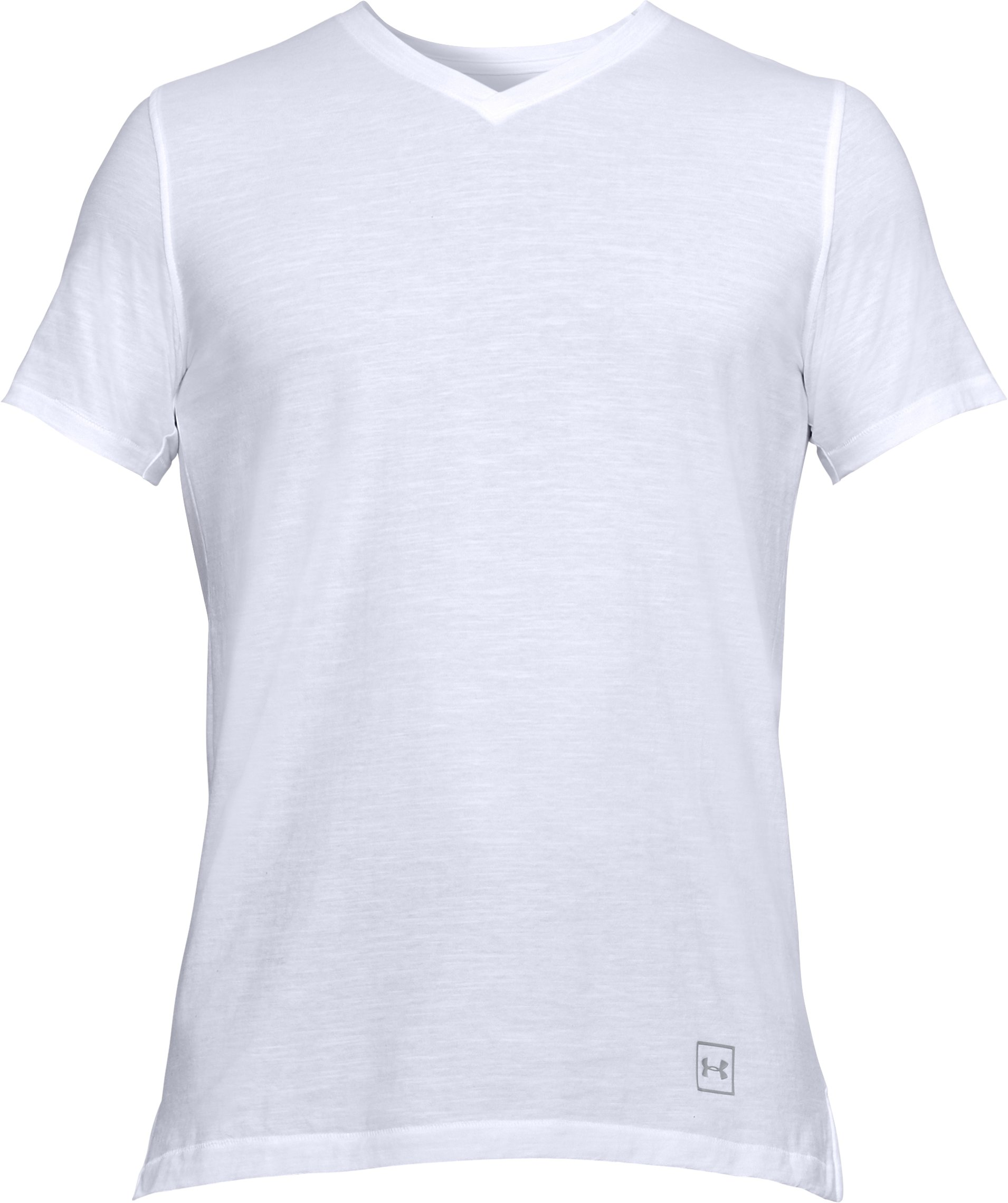Men's UA Sportstyle Core V-Neck, White, undefined