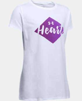 She Plays We Win UA Heart T-Shirt  1 Color $19.99