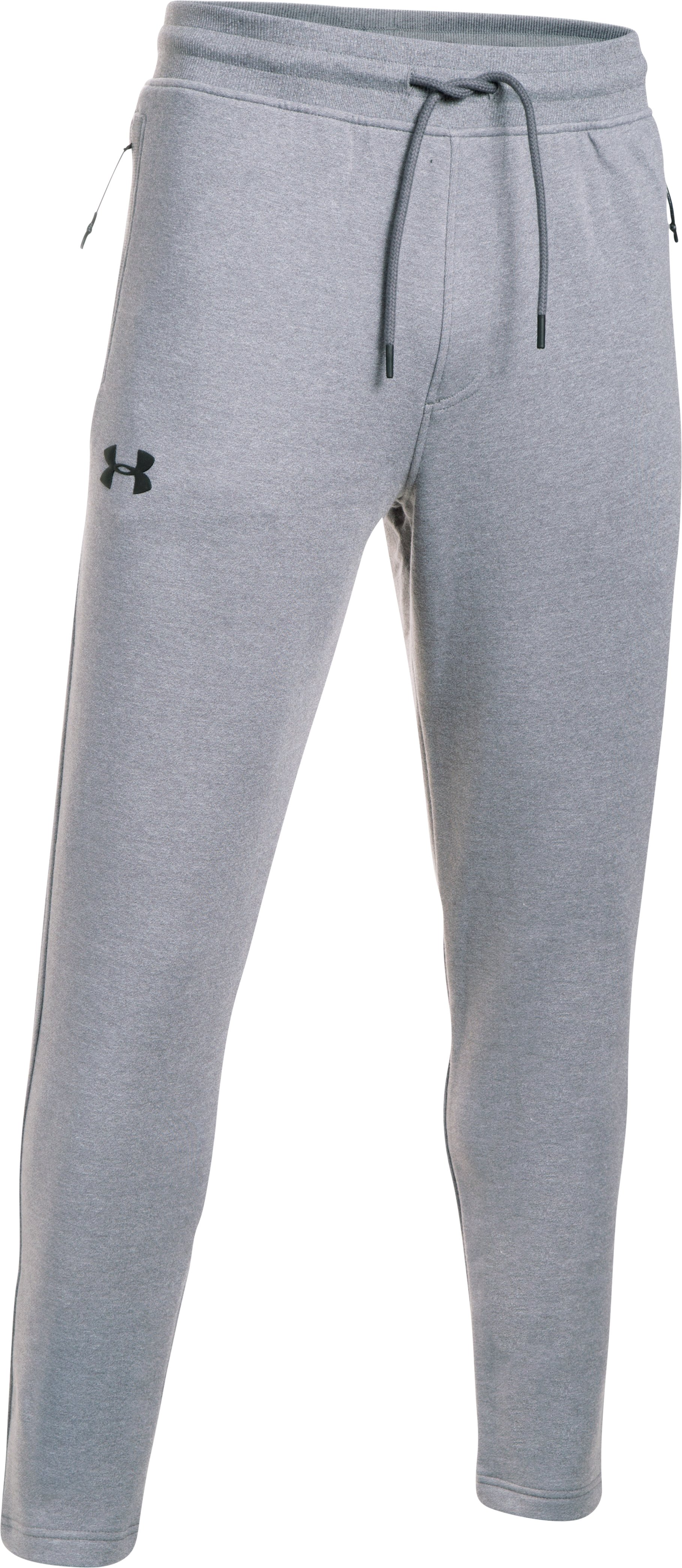 Men's UA Threadborne™ Fleece Pants, True Gray Heather, undefined