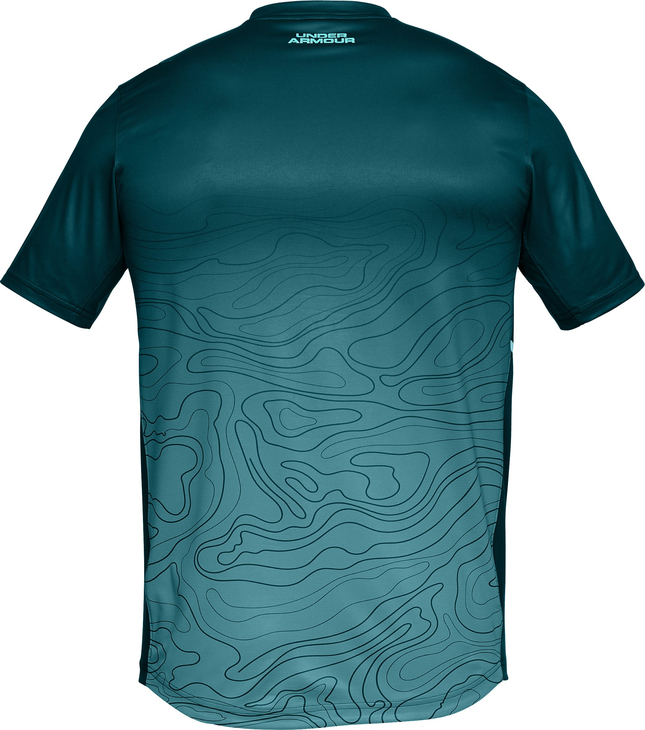 Men's UA Forge V-Neck Patterned, TOURMALINE TEAL,