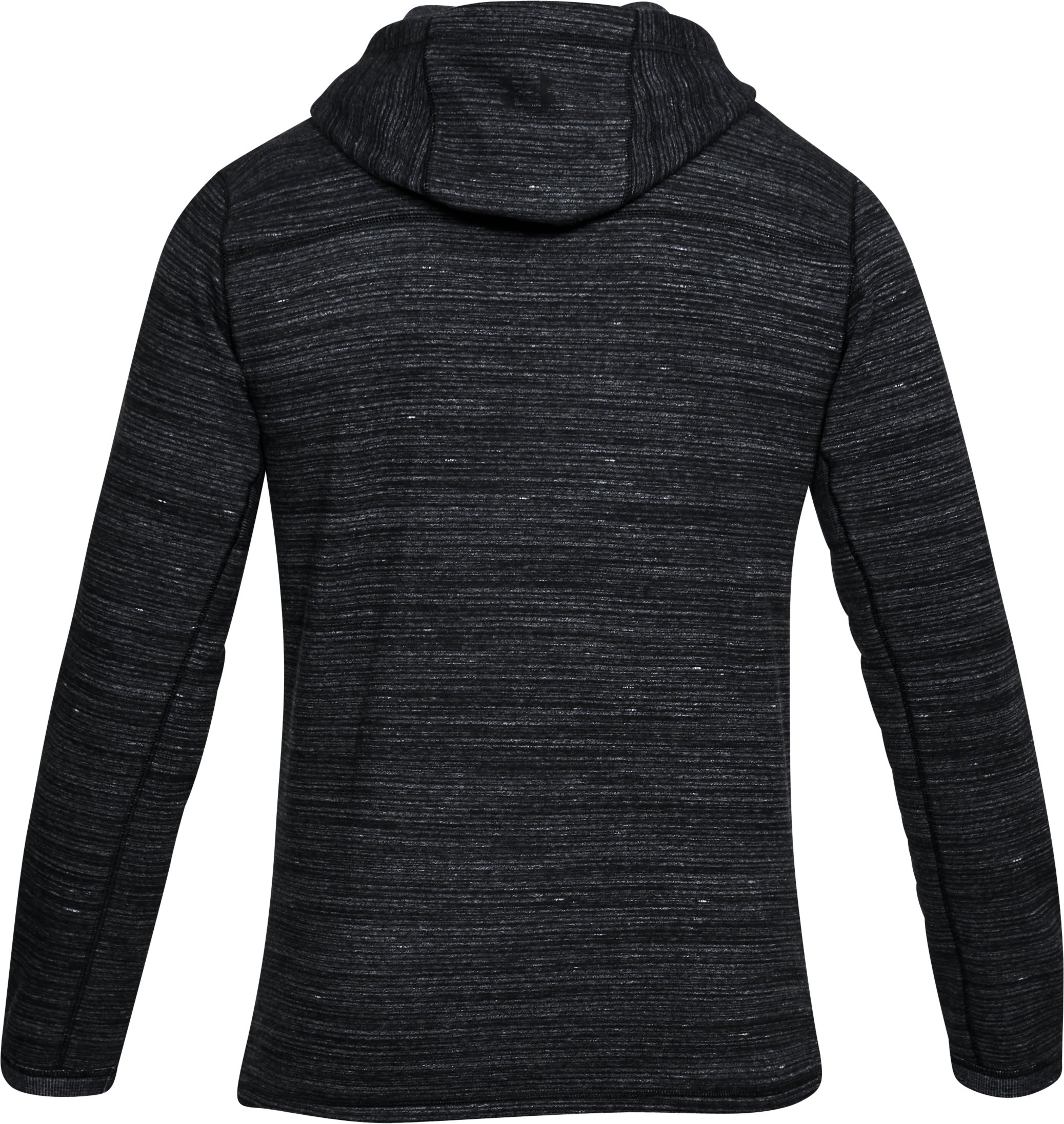 Men's UA Microthread Fleece Popover, Black ,
