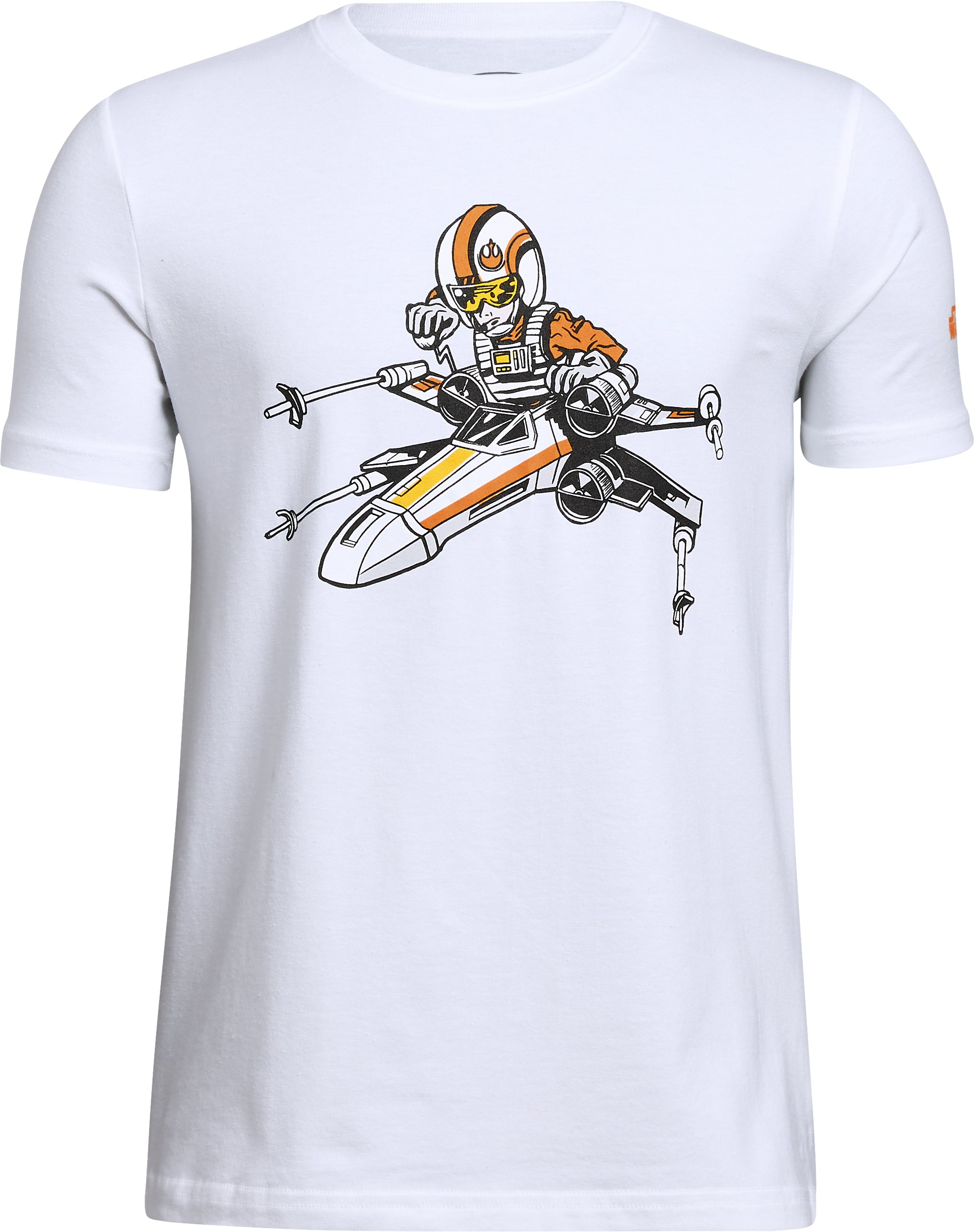 Boys' Star Wars UA XWing Pilot T-Shirt, White,