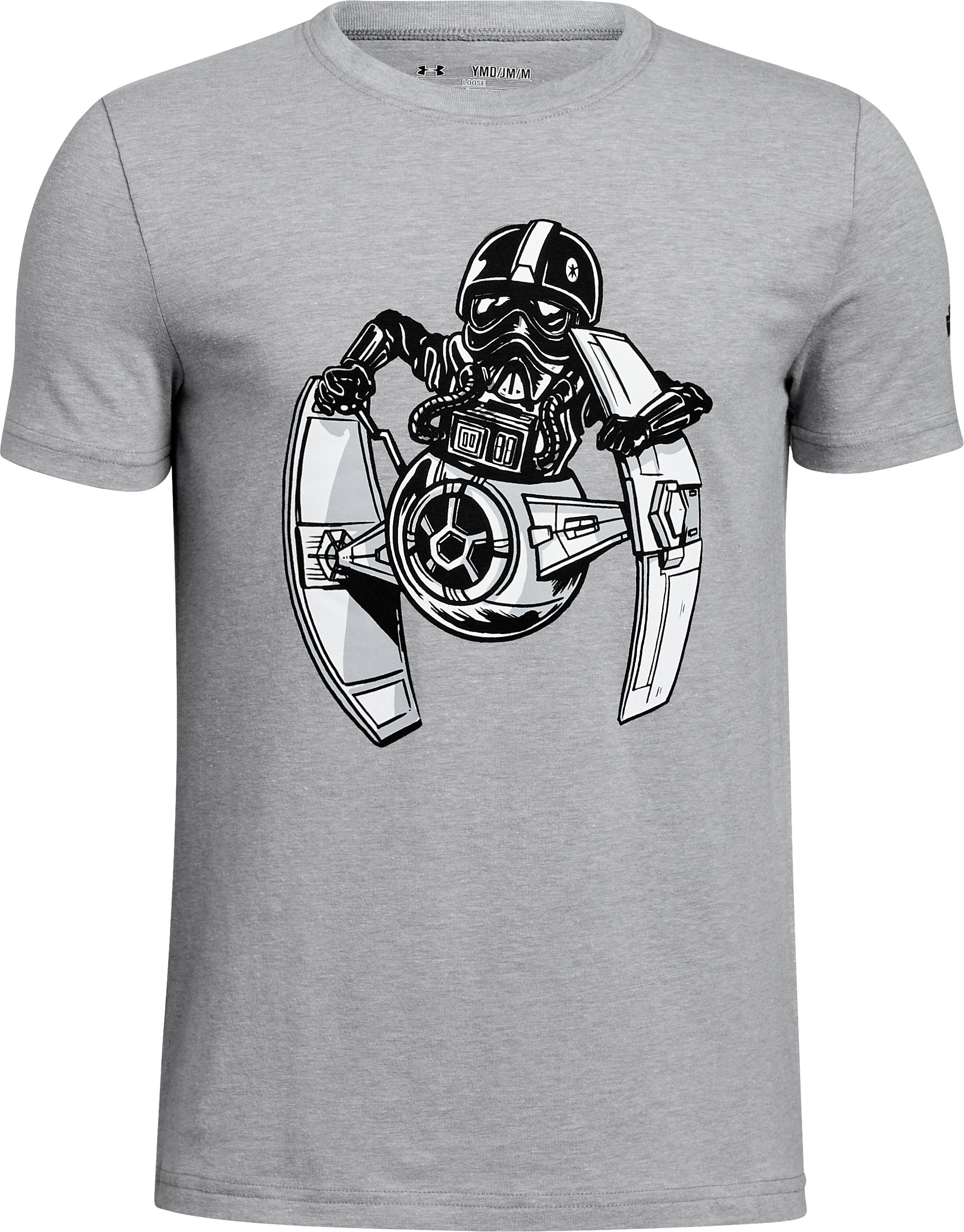 Boys' Star Wars UA Tie Pilot T-Shirt, STEEL LIGHT HEATHER