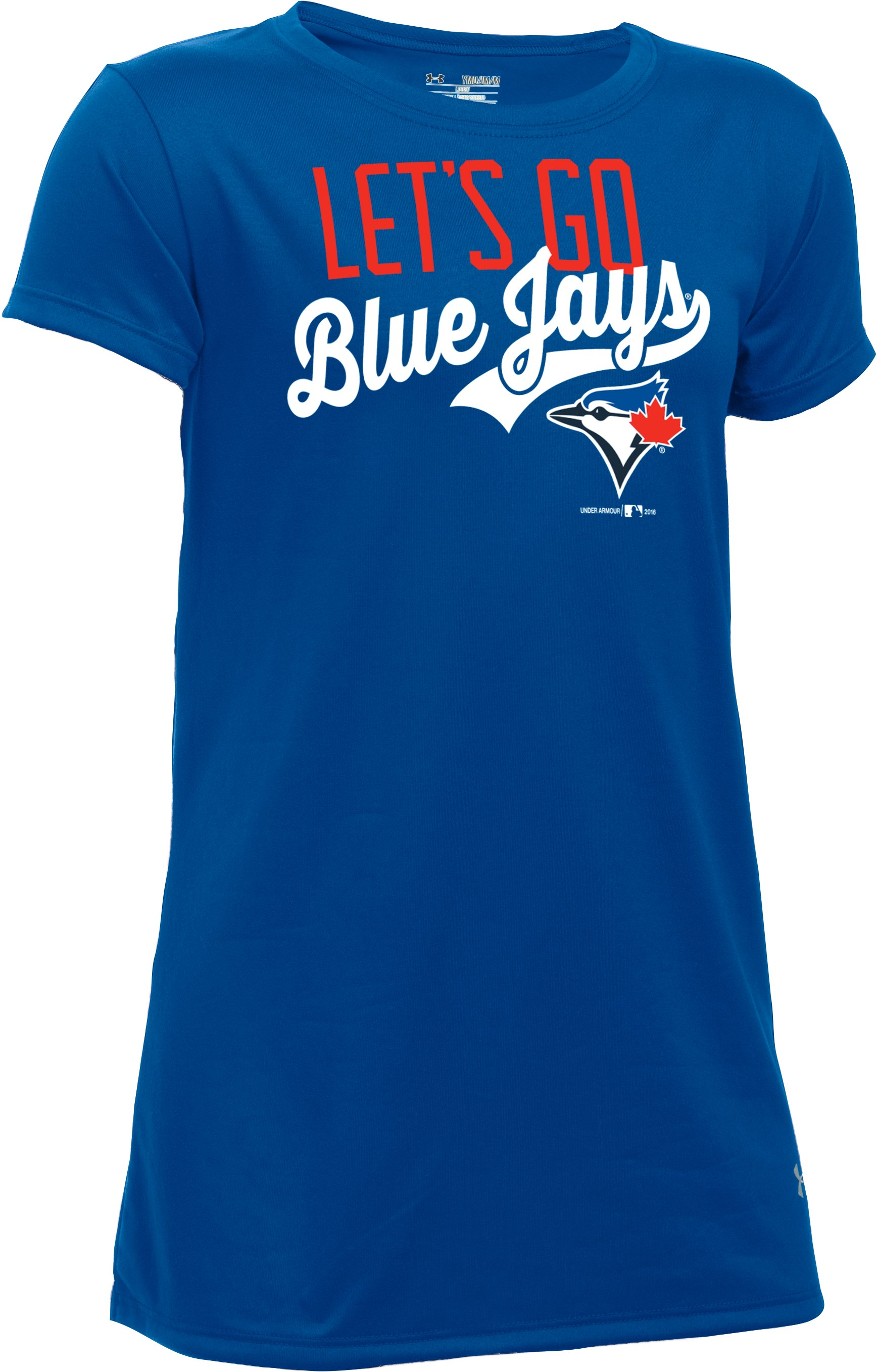 Girls' Toronto Blue Jays UA Tech™ T-Shirt 1 Color $24.99