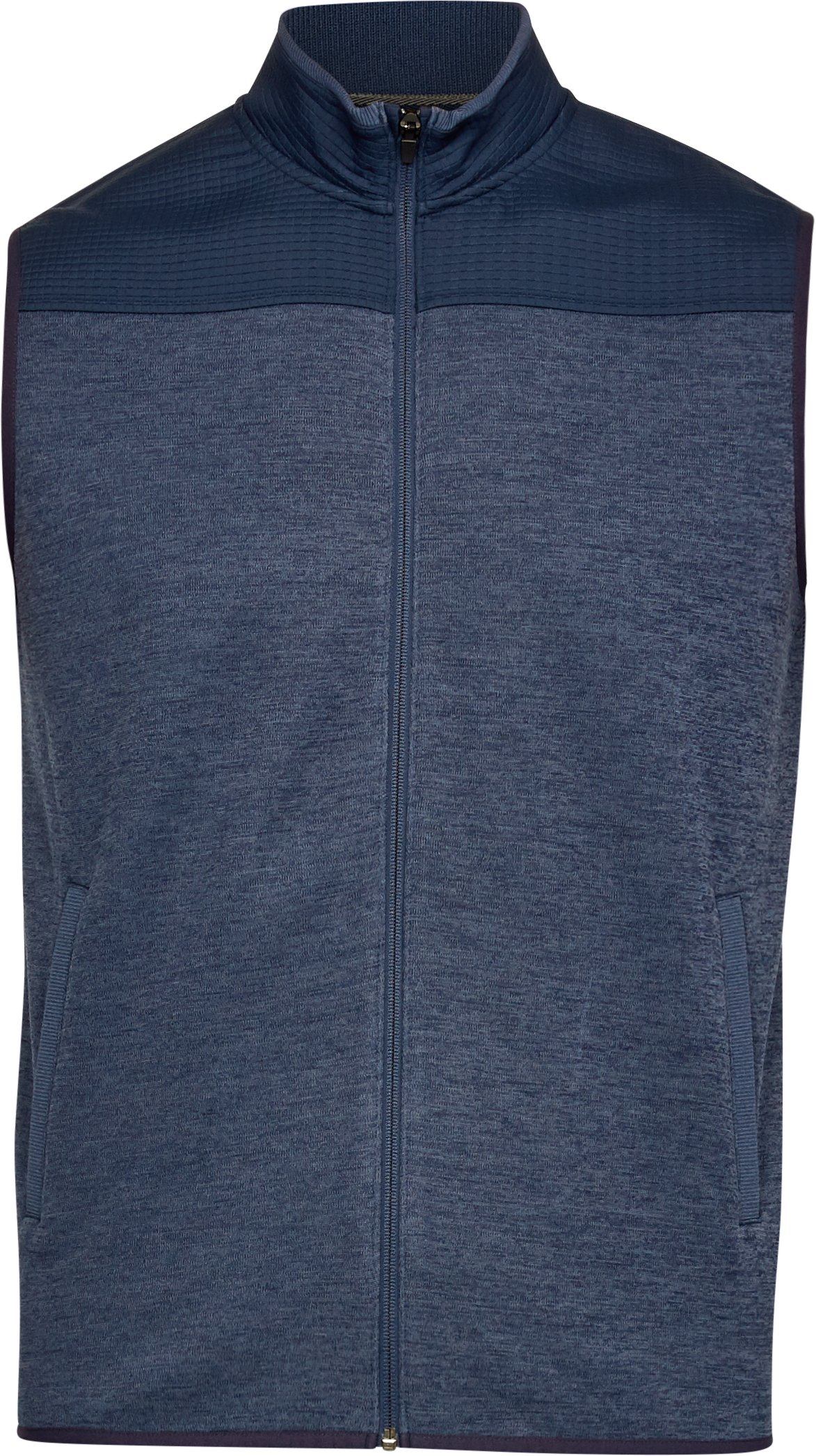 Men's UA SweaterFleece Full Zip Vest, Academy, undefined