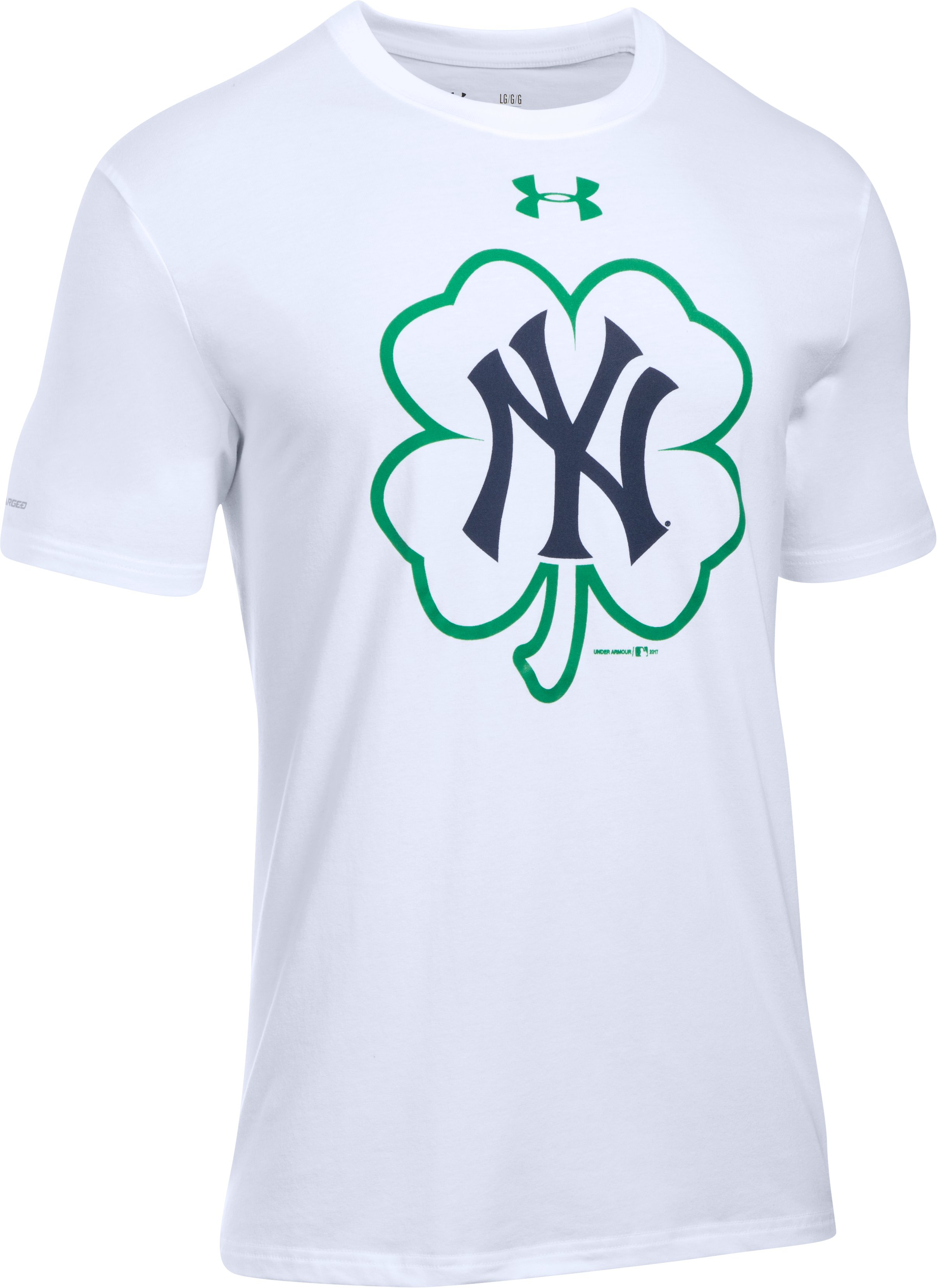 Men's New York Yankees St Patty T-Shirt, White, undefined