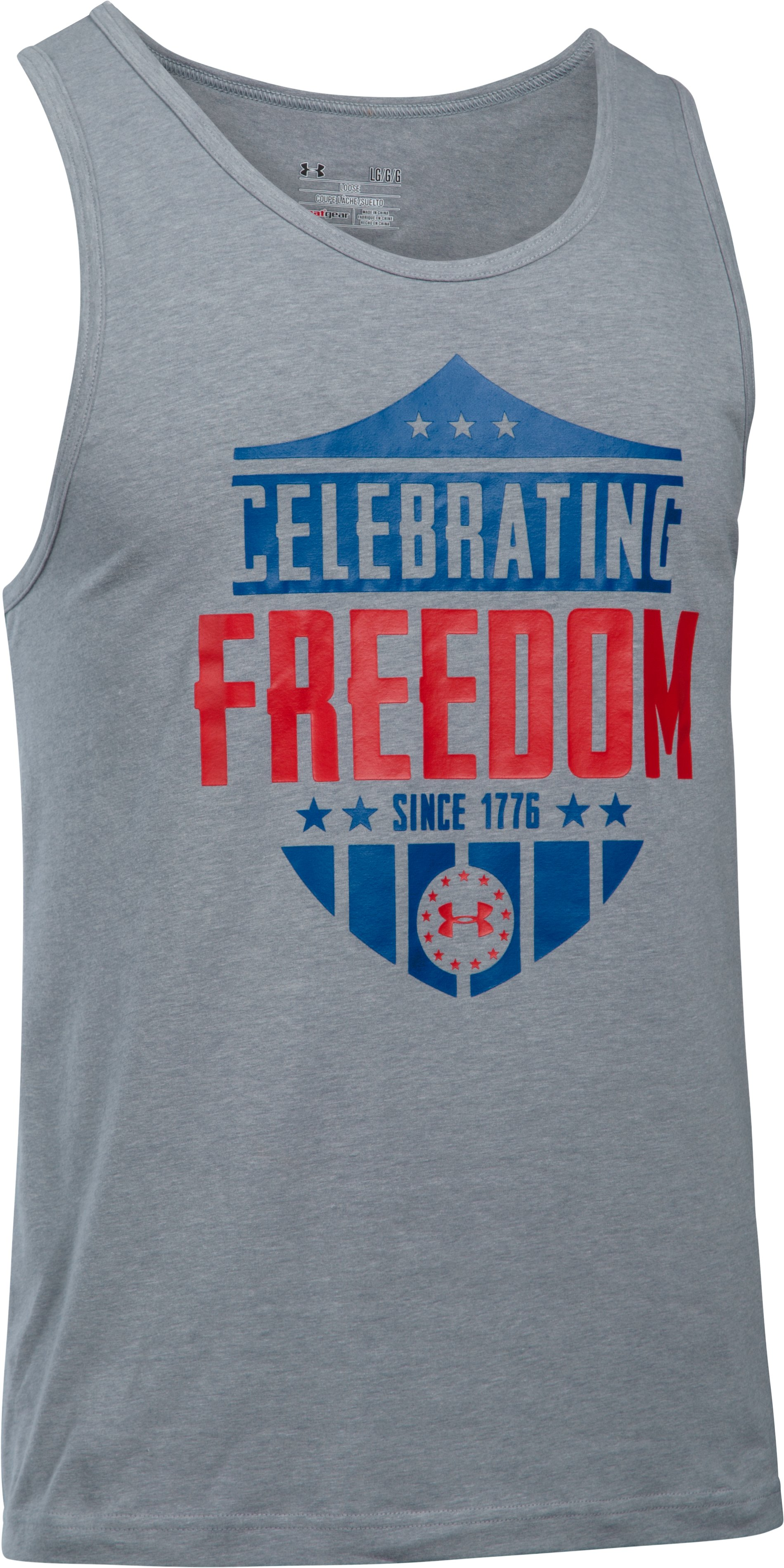 Men's UA Freedom Celebrate Tank, STEEL LIGHT HEATHER