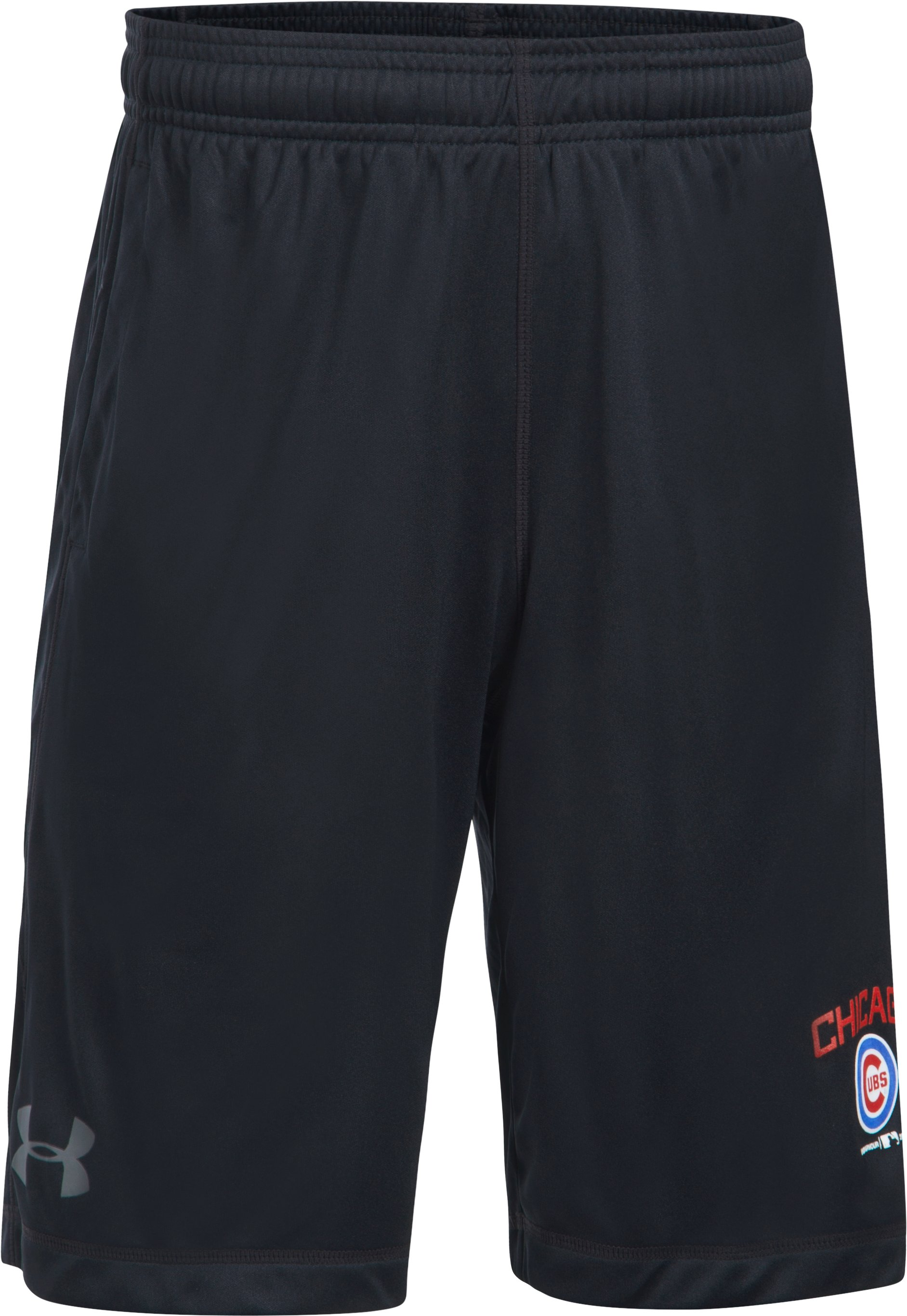 Boys' Chicago Cubs Training Shorts, Black ,